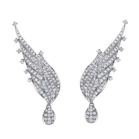 TAK FOOK - 18K DIAMOND EARRINGS