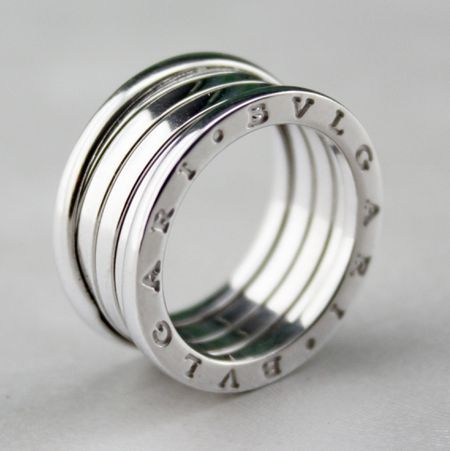 18K WHITE GOLD ORIGINAL BVLGARI B ZERO RING