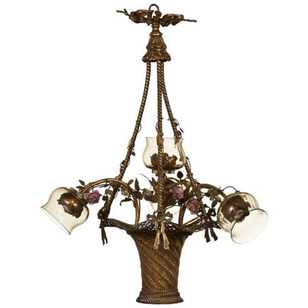 French Bouquet Chandelier c. 1920