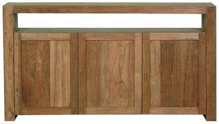 Teak Double sideboard - 3 opening doors