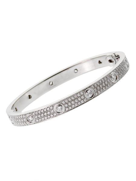 Cartier Love Diamond Bracelet in White G