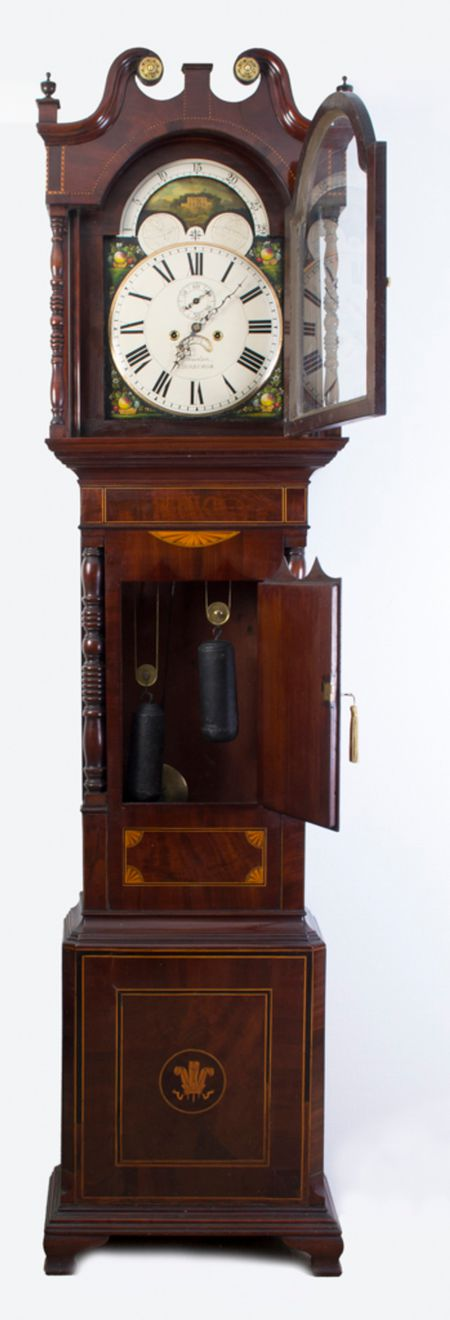 Antique Mahogany Longcase Clock by J Howden c.1800