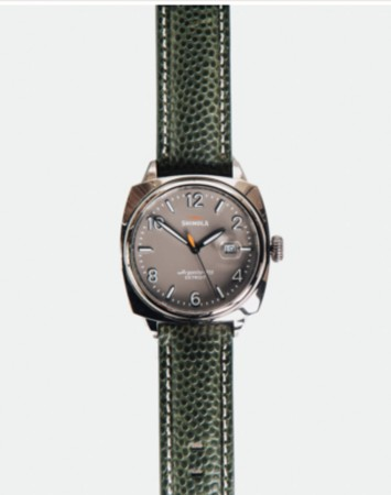 SHINOLA BRAKEMAN 40MM WATCH: GREY/GREEN