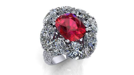 Ruby Ring 5.23 carats