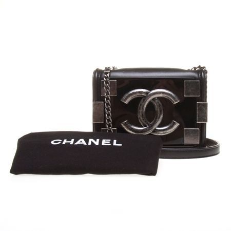 Chanel Black Lambskin Boy Brick Crossbody Bag