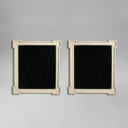 A Large Pair of William Kent Revival Painted Pier Mirrors