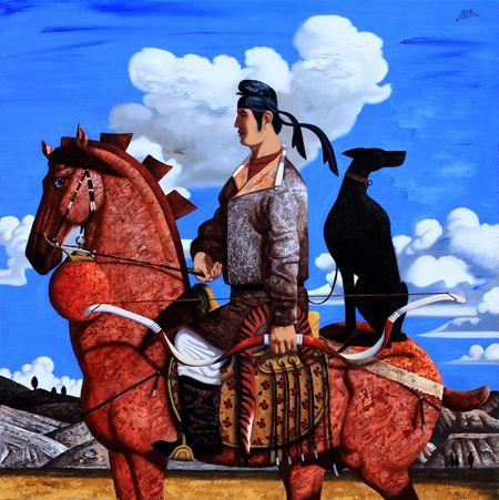 """A Beautiful Day"" by Xu Songbo, Tang Spirit 《丽日》-徐松波 ,唐风系列"