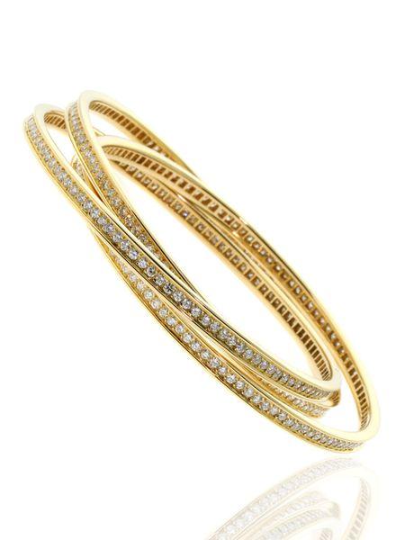 Cartier Full Diamond Trinity Bangle
