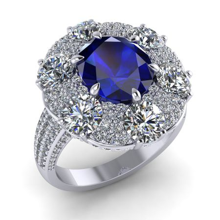 Sapphire Ring 3.35 carats