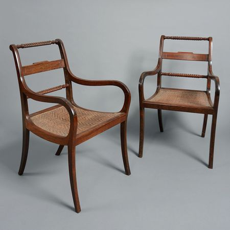 A Pair of Colonial Armchairs
