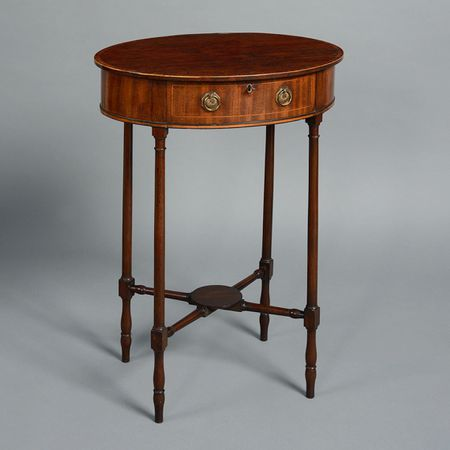 A George III Period Sheraton Mahogany Occasional Table