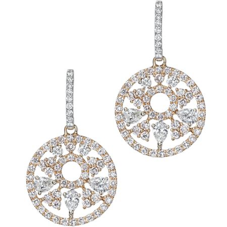 TAK FOOK - 18K PINK DIAMOND EARRINGS