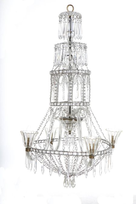 Italian Glass Chandelier, circa 1910