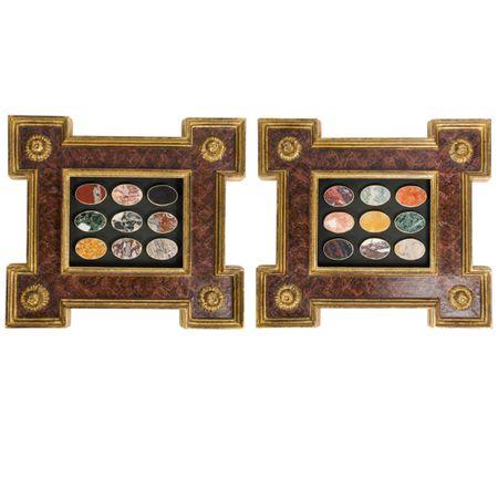 Pair of Framed Lapidarium