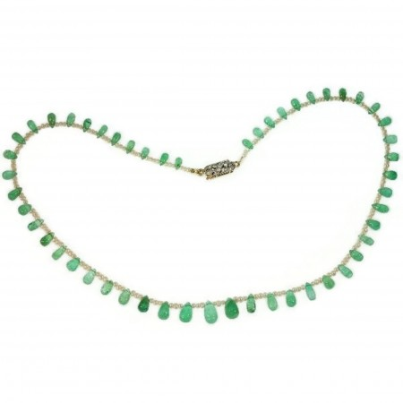 Belle Epoque necklace with emerald drop