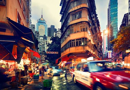 Wan Chai At Dusk by Nicolas Jacquet