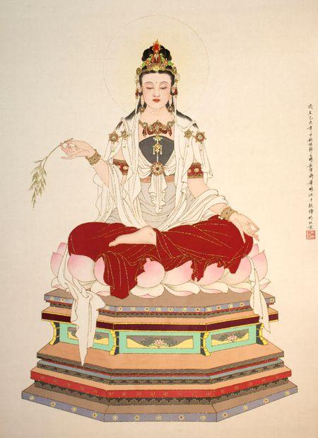 觀世音菩薩 鄭希林 Guanyin by Xi-Lin Zheng