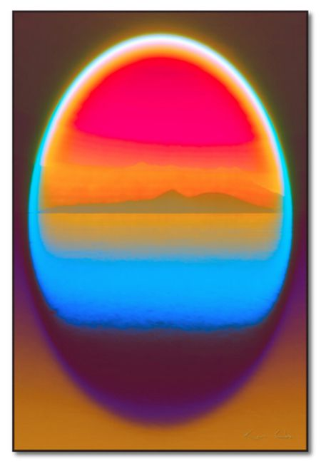 SOUL MIRRORS LANDSCAPE NO.1 RED BLUE ORANGE BY KEN CHI