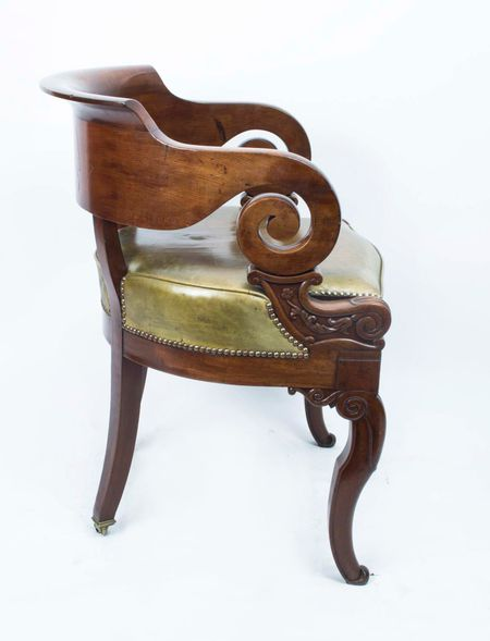 Antique Empire Mahogany Armchair C1820