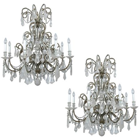 Italian Beads Rock Crystal Chandeliers
