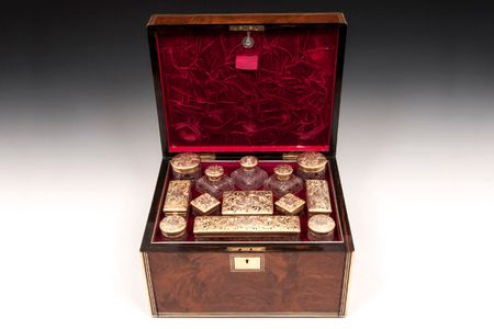 Aboyna Silver Gilt Dressing Box