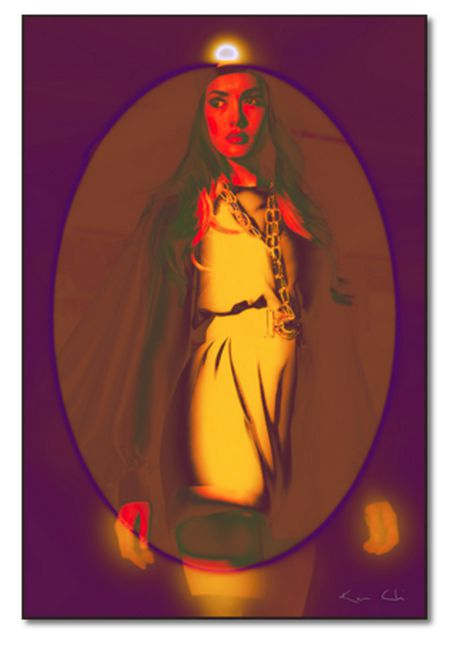 AUTUMN MODA IMAGINE NO.2 YELLOW NIGHT PORTRAIT BY KEN CHI