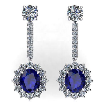 Sapphire Earrings 12.02 carats