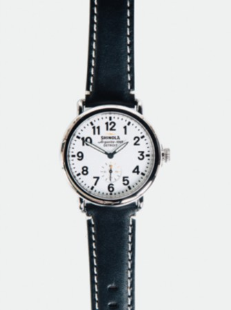SHINOLA RUNWELL 41MM WATCH: WHITE/BLACK